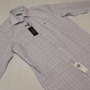 NWT Reaction Kenneth Cole Slim Dry-Tek Button Up M
